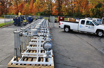 Custom Fabricated Skid Pumping Systems   Fischer Process