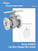 Series 818/828 Full Bore Flanged Ball Valves
